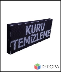 32x128 CM BEYAZ-YEŞİL-SARI-MAVİ TEK RENK KAYAN YAZI - Thumbnail