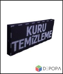 32x192 CM BEYAZ-YEŞİL-SARI-MAVİ TEK RENK KAYAN YAZI - Thumbnail
