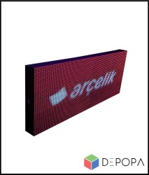 96x160 CM FULL RENK RGB KAYAN YAZI - Thumbnail