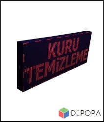 16x128 CM KIRMIZI KAYAN YAZI - Thumbnail